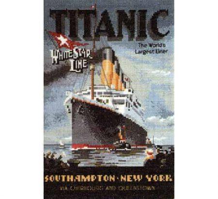 Heritage Crafts Cross Stitch Kit - Titanic