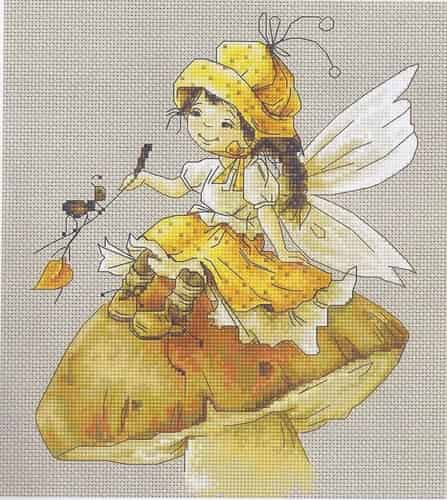 Luca S Cross Stitch Kit - Toadstool Fairy B1109