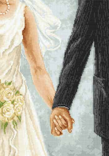 Luca S Cross Stitch Kit - Together, Wedding, Marriage, B2333