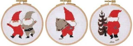 DMC Cross Stitch Kit - Christmas, Santa - Tomte, Sack, Tree