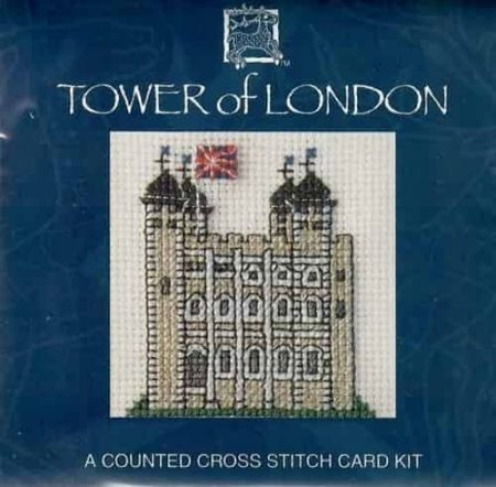 Textile Heritage Cross Stitch Kit - Card - Tower of London - Made in Scotland