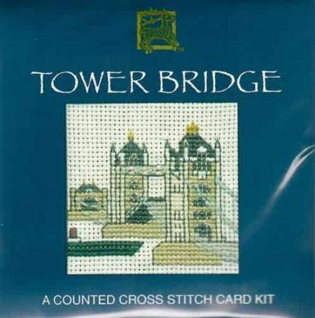 Textile Heritage Cross Stitch Kit - Card - Tower Bridge - Made in Scotland