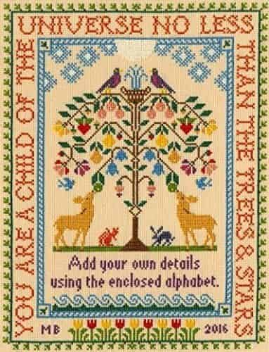Bothy Threads Cross Stitch Kit - Moira Blackburn Tree of Life Sampler XS6