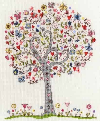 Bothy Threads Cross Stitch Kit - Love Tree XKA2