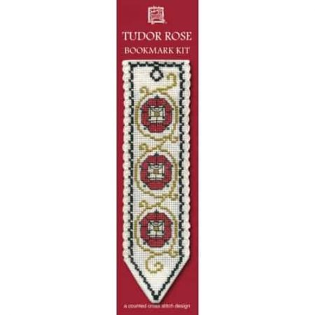 Textile Heritage Cross Stitch Kit - Bookmark - Tudor Rose - Made in Scotland