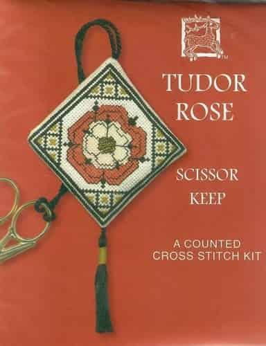 Textile Heritage Cross Stitch Kit - Scissor Keep - Tudor Rose