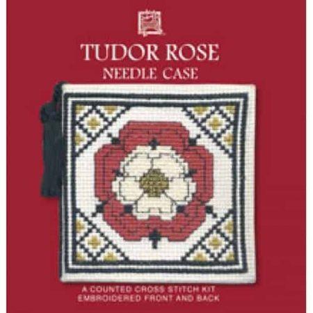 Textile Heritage Cross Stitch Kit - Tudor Rose Needlecase - Made in Scotland