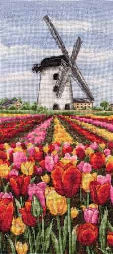 Anchor Cross Stitch Kit - Dutch Tulips Landscape PCE0806