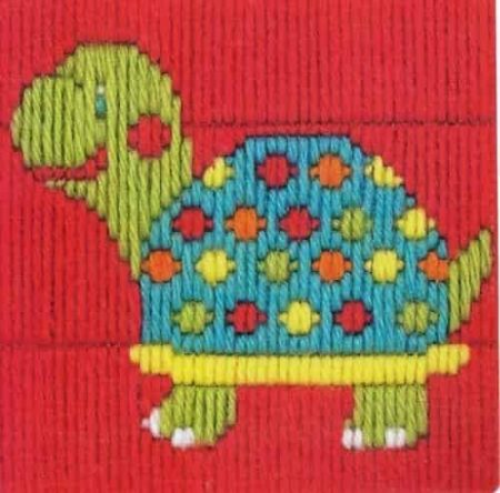 Anchor 1st Kit Beginners Long Stitch Kit - Turtle 30017