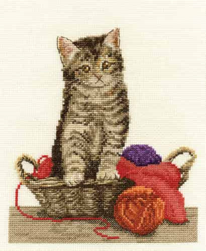 DMC Cross Stitch Kit - Fun Time, Cat BK1435