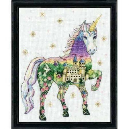 Design Works Cross Stitch Kit - Scenic Unicorn 3374