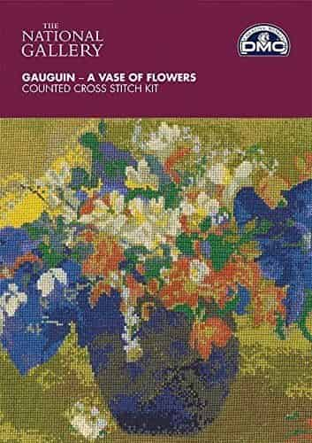 DMC Cross Stitch Kit National Gallery - Gauguin - A Vase of Flowers BL1114/71