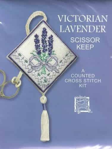 Textile Heritage Cross Stitch Kit - Scissor Keep - Victorian Lavender
