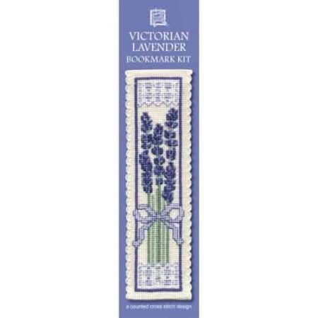 Textile Heritage Cross Stitch Kit - Bookmark - Victorian Lavender - Made in Scotland