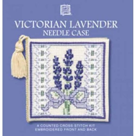 Textile Heritage Cross Stitch Kit - Victorian Lavender Needlecase - Made in Scotland