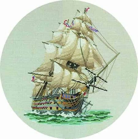 Heritage Crafts Cross Stitch Kit -  HMS Victory