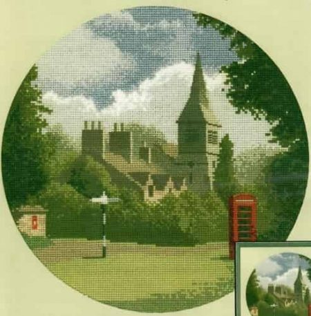 Heritage Crafts Cross Stitch Kit – John Clayton – Circles – Village Green