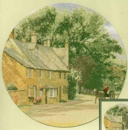 Heritage Crafts Cross Stitch Kit – John Clayton – Circles – Village Lane