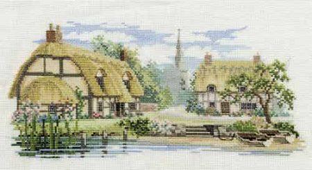 Derwentwater Designs Cross Stitch Kit - The Lanes Series - Waterside Lane
