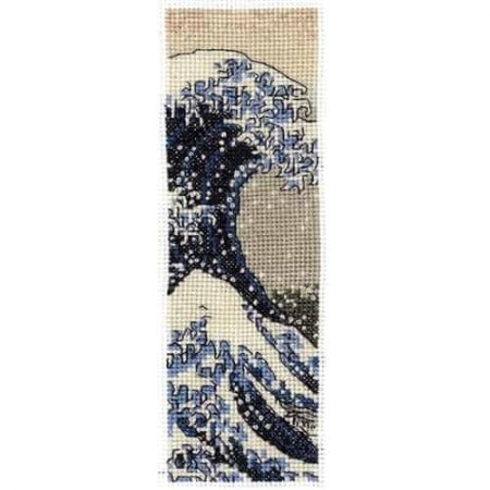 DMC Cross Stitch Kit - British Museum Bookmark - The Great Wave