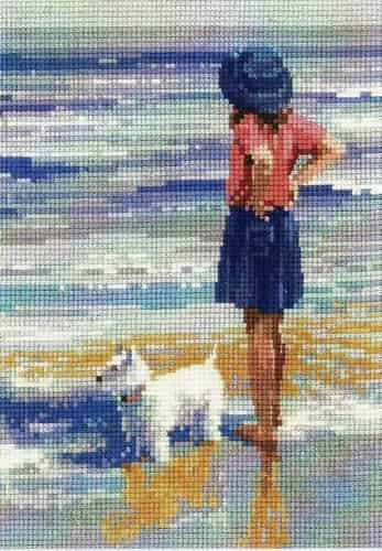 Heritage Crafts Cross Stitch Kit - Memories - Wave Watching