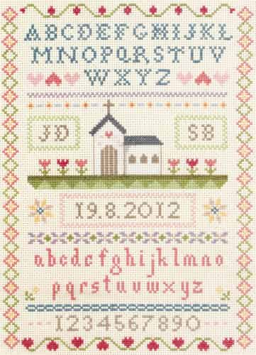 Anchor Cross Stitch Kit - Wedding Classic Sampler ACS32