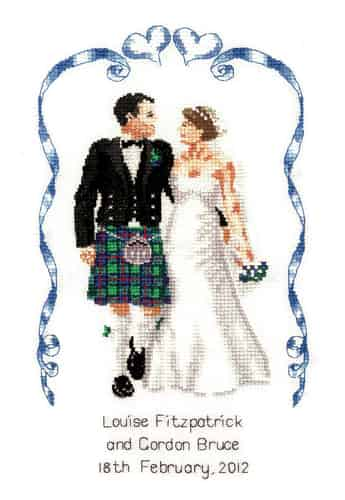 Heritage Crafts Cross Stitch Kit - Scottish Wedding