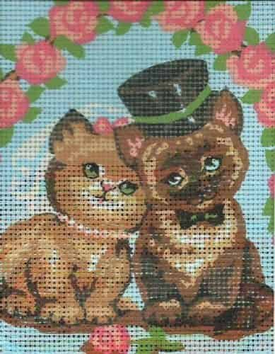 Grafitec Needlepoint Tapestry Kit - Wedding Cats