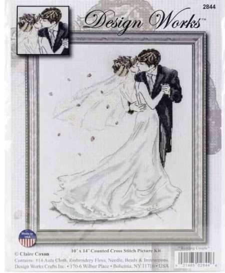 Design Works Cross Stitch Kit - Wedding Couple 2844