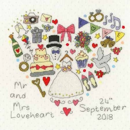 Bothy Threads Cross Stitch Kit - The Big Day, Wedding XWS11