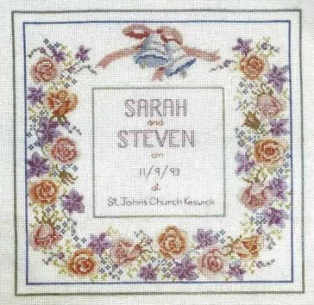 Derwentwater Designs Cross Stitch Kit - Wedding Sampler, Marriage