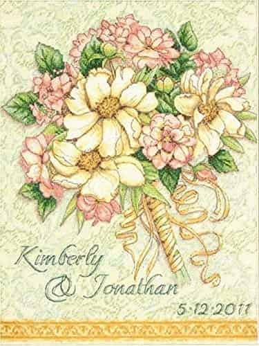 Dimensions Gold Collection Cross Stitch Kit - Wedding Record Bouquet