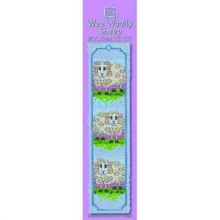 Textile Heritage Cross Stitch Kit - Bookmark - Wee Woolly Sheep - Made in Scotland