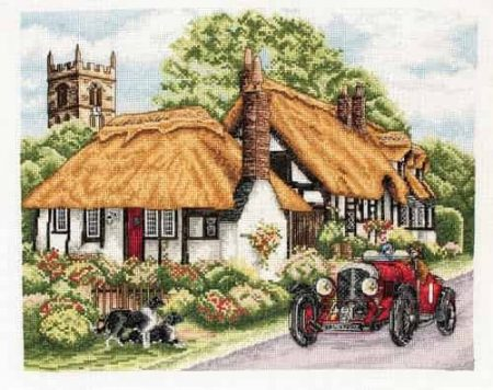 Anchor Cross Stitch Kit - Village of Welford PCE869