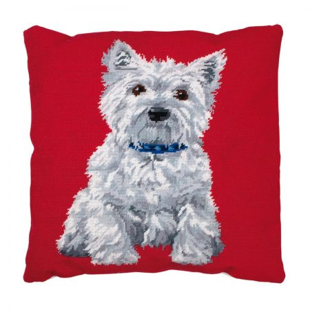 Anchor Living Cushion Front Tapestry Needlepoint Kit - Westie, Dog ALR36