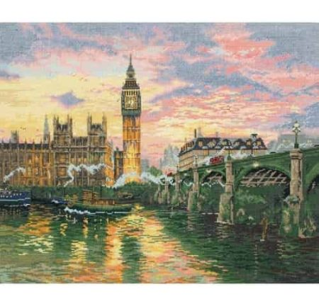 Anchor Maia Collection Cross Stitch Kit - London, Westminster by Thomas Kinkade