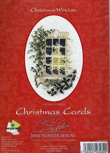 Derwentwater Designs Cross Stitch Kit - Christmas Card, Christmas Window