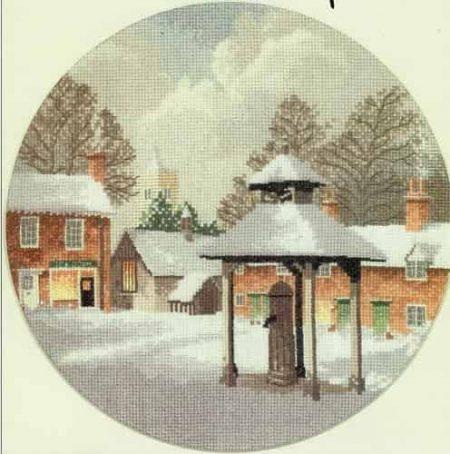 Heritage Crafts Cross Stitch Kit – John Clayton – Circles – Winter Village