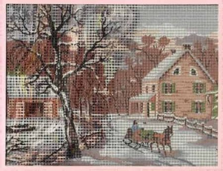 Grafitec Needlepoint Tapestry Kit - Winter, Landscape, Cottage