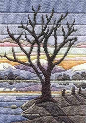 Derwentwater Design Long Stitch Kit - Seasons Winter Evening