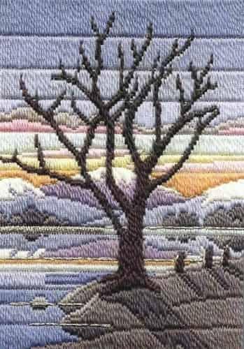 Derwentwater Design Long Stitch Kit - Seasons Winter Evening