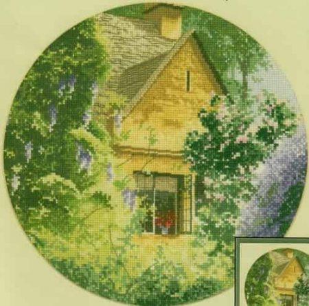 Heritage Crafts Cross Stitch Kit – John Clayton – Circles – Wisteria Cottage