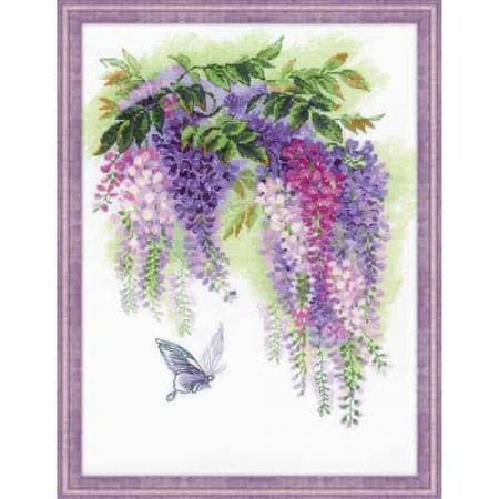 Riolis Cross Stitch Kit - Wisteria 1672