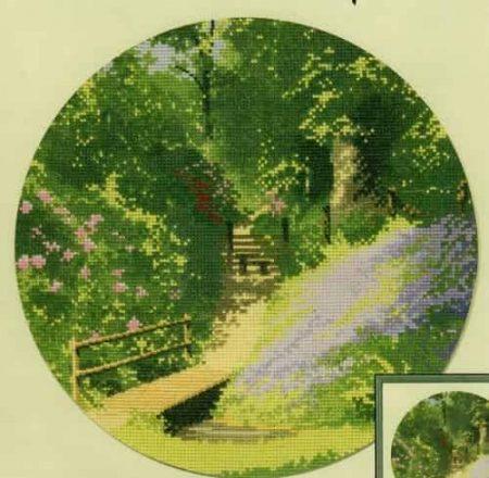Heritage Crafts Cross Stitch Kit – John Clayton – Circles – Woodland Walk