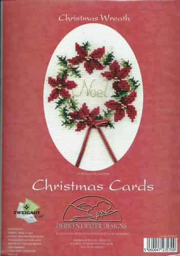 Derwentwater Designs Christmas Card Cross Stitch Kit - Wreath