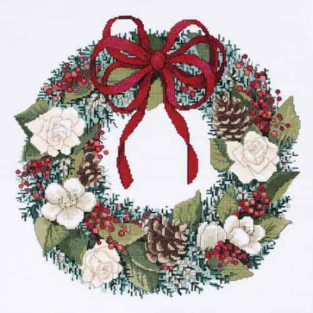 Janlynn Cross Stitch Kit - Christmas Traditions, Wreath