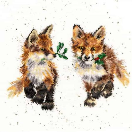 Bothy Threads Cross Stitch Kit - Glad Tidings, Foxes XHD18