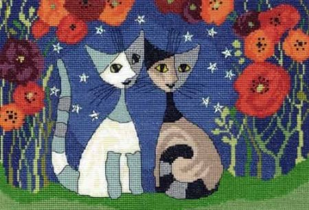 Bothy Threads Cross Stitch Kit - Poppy Nights XRW2