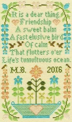 Bothy Threads Cross Stitch Kit - Dear Thing, Sampler XS10