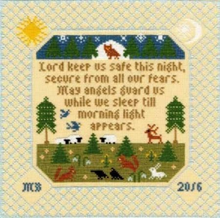 Bothy Threads Cross Stitch Kit - The Prayer, Sampler XS9